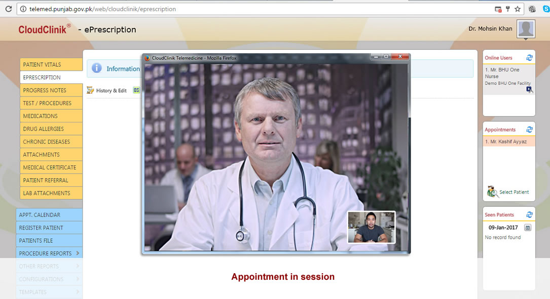 Online Appointment, online Scheduling and tracks your daily appointments,Practice Management